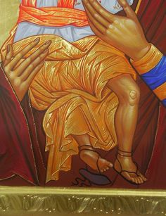 Radoslav Hristov Church Interior, Orthodox Icons, Christian Art, Religious Art, Virgin Mary, Madonna, Detail, Painting, Look