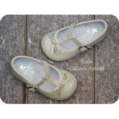 zapatos niña - merceditas charol beige Landos - calzado infantil