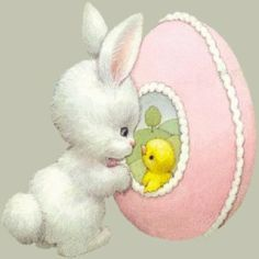 Ruth Morehead Easter White Bunny and Sugar Egg Bunny Book, Bunny Art, Ostern Wallpaper, Easter Paintings, Bunny Painting, Easter Pictures, Easter Parade, Easter Printables, Cartoon Pics