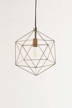 Magical Thinking Geo Pendant - Urban Outfitters - only 25 w bulb. Kitchen Lighting Design, Home Lighting, Pendant Lamp, Pendant Lighting, Home Design, Kitchen Ceiling Lights, Kitchen Pendants, Reno, Home Interior