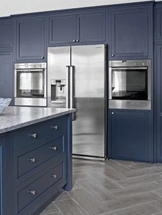 Coloured cabinets and stainless