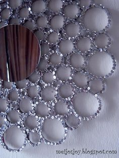 Meijo's Joy: Sequin TB roll sunburst mirror!