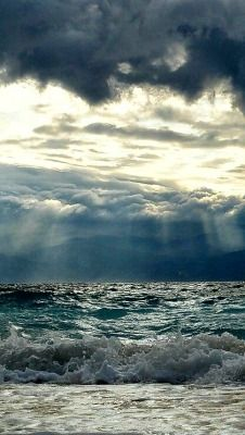 66 Ideas Nature Photography Dark Stormy Sea For 2019 No Wave, Sea And Ocean, Ocean Beach, Ocean Waves, Stürmische See, Foto Picture, Photos Bff, Stormy Sea, All Nature