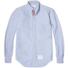 Thom Browne - Classic Grosgrain Placket Oxford Shirt (Blue)