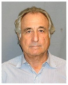 "Swindler Bernard Madoff was convicted in March 2009 of orchestrating the largest Ponzi scheme in history, a decades-long scam that bilked investors of more than $50 billion. In pleading guilty to 11 felony counts, Madoff claimed to be ""deeply sorry and ashamed."" Madoff is pictured in a United States Marshals Service mug shot."