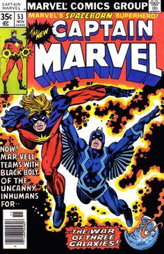 Captain Marvel 53 1977 cover by Gil Kane