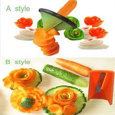 Cooking Tools Kitchen Gadget Creative fruit Vegetable Peeler slicer Grater Carve Volume Flower Spiral Cutter kitchen accessories //Price: $7.95 & FREE Shipping //