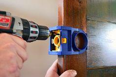 How to install a doorknob where no doorknob has been before
