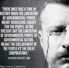 ~ Theodore Roosevelt, 1913