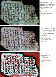 Electronic Library Early Manuscripts > Sinai Palimpsests Processed Images, ancient, scrolls, language, religion