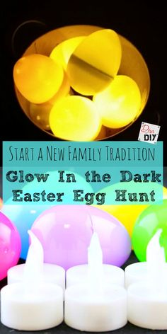 Surprise your kids this Easter and start a new tradition with a Glow in The Dark Easter Egg Hunt! Its a unique way to kick off you Easter weekend! - Crafts Diy Home
