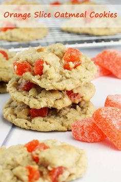 Old Fashioned Orange Slice Oatmeal Cookies from The Stay At Home Chef. This family recipe features those delicious little candy orange slices. So delicious, they'll be a new (old) favorite!