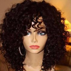 curly human hair wigs - Google Search