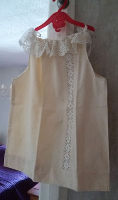 A girl dress made from old pillow case