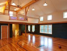 New barn - recreational building construction - traditional - home gym - boston - Landmark Services Inc