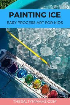 Let their creativity loose with these 4 crazy fun process art activities for kids. Easy art activities for kids using materials you already have. #kidsart #kidsartprojects #art #artforkids #toddlers #preschool #kindergarten #daycare #toddlerart #processart