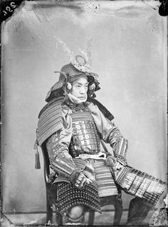 Japanischer Fürst in Kriegsrüstung. Burger, Wilhelm