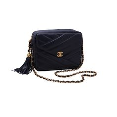 Chanel Navy Bag with Tassel