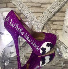 Aladdin princess jasmine disney wedding shoes by yourheartdesires1
