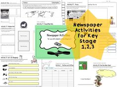 NEWSPAPER ACTIVITIES ( NIE ) for Creative Writing by MindtheGapShop on Etsy