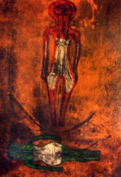 Dos Figuas 1973 by Rufino Tamayo