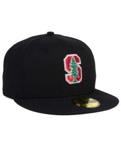 sports shoes 83a93 6463d New Era Stanford Cardinal Ac 59FIFTY Cap - Black 6 7 8