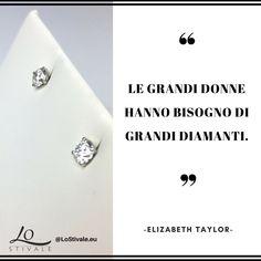 """""""Le grandi donne hanno bisogno di grandi diamanti."""" -Elizabeth Taylor  Per Info: ✉ info@lostivale.eu https://lostivale.eu/ #LoStivale #Style #Collana #Bracciale #Anello #Gioiello #Gioielli #Fashion #Articoli da #Regalo #Oro #Argento #Luxury #Montblanc #Pen #Bracelet #Necklace #Ring #Jewel #Jewels #Bijoux #Jewellery #Jewelry #Collier #Diamante #Diamanti #Donna #Donne #Woman #Women"""