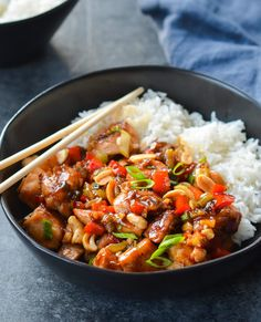 TESTED & PERFECTED RECIPE -- Kung Pao Chicken, the classic Chinese takeout dish of stir-fried chicken, peanuts, and vegetables, is easy to make at home. Chef Recipes, Asian Recipes, Cooking Recipes, Ethnic Recipes, Asian Foods, Chinese Recipes, Recipies, Chinese Desserts, Party Recipes