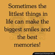 Sometimes the littlest things in life can make the biggest smiles and the best memories!
