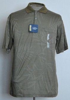 John Ashford Shirt S Mens Polo Rugby Short Sleeve Gold Striped Cotton #JohnAshford #PoloRugby