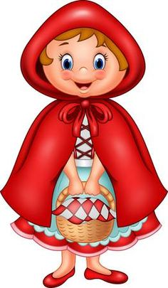 Vector illustration of Red riding hood Crafts To Make, Crafts For Kids, Le Gui, College Crafts, Cute Wallpapers For Ipad, Disney Images, Banner Printing, Stories For Kids, Illustrations And Posters
