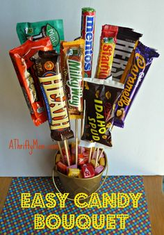 Easy Candy Bouquet #DIY Fathers Day GIft Idea