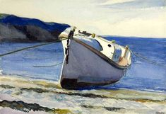 Edward Hopper, Coast Guard Boat I on ArtStack #edward-hopper #art