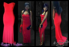 Red matric farewell dress. Body hugging with a side slit sweetheart neckline. A short train and a defining waistline. #mariselaveludo #matricdance #passion4fashion #matricdress #fashion #reddress #red