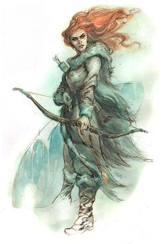 "ygritte-fire: "" ""Ygritte"" by Enrique Corominas (http://corominas.viewbook.com/). """
