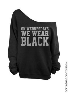 On Wednesdays We Wear Black - Black with Silver Slouchy Oversized Sweatshirt - $29.00