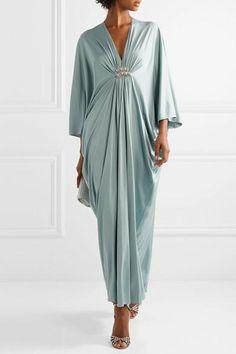 Mint silk-jersey Slips on silk Dry clean Designer color: Ice Blue Abaya Fashion, Fashion Outfits, Womens Fashion, Abaya Mode, Hijab Stile, Mode Chic, Classy Outfits, Jimmy Choo, Designer Dresses