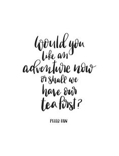 'Would you like an adventure, Peter Pan Quote' Poster by lifeidesign Strong Quotes, Positive Quotes, New Adventure Quotes, Adventure Awaits, Peter Pan Quotes, New Beginning Quotes, Vinyl Quotes, Peter Pan Disney, Best Quotes