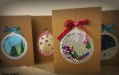 Die Cut Christmas Cards, Xmas Cards, Christmas Time, Christmas Bulbs, Christmas Crafts, Christmas Decorations, Love Rose Flower, Diy And Crafts, Crafts For Kids