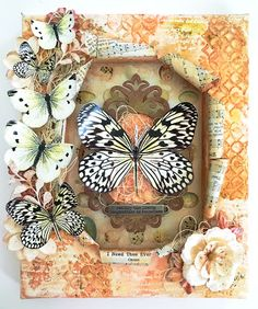 Mixed Media Butterfly Reverse Canvas