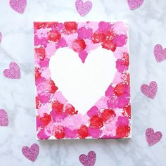 Cotton Ball Heart Painting Crafts for Kids- Sunshine Whisper.- Cotton Ball Heart Painting Crafts for Kids- Sunshine Whispers Valentine day craft for kids - Painting Crafts For Kids, Valentine's Day Crafts For Kids, Valentine Crafts For Kids, Valentines Day Activities, Holiday Crafts, Valentines Day Cards Diy, Homemade Valentines, Kids Diy, Easy Mothers Day Crafts For Toddlers