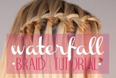 Waterfall braid tutorial! Click click.time to bust out my daughters barbie dolls.thats howI learned the fish tail&french.I also wanna learn the in