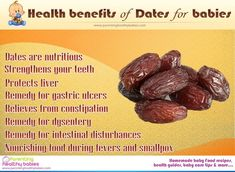 date fruit benefits | To know the benefits of Dates as baby food, look at the infographic ...