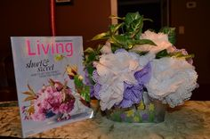 Tutorial: Punched Tissue Paper Flower Bouquet
