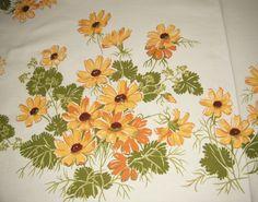 Vintage Wilendure Yellow Daisy Tablecloth 50 X 52 Wilendur Great Shape