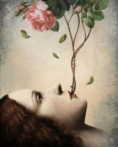 Anything can happen in a world that holds such beauty - Christian Schloe is a talented Chilean artist whose work includes digital art, painting, illustration, and photography. Art And Illustration, Portrait Illustration, Fantasy Kunst, Fantasy Art, Art Amour, Art Visionnaire, Illustrator, Art Du Monde, Ouvrages D'art