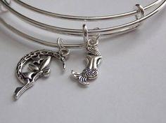 Little Mermaid and Fairy Bangle   Mermaid  Fairy Bracelet
