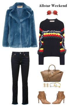 """Weekend"" by musicfriend1 ❤ liked on Polyvore featuring 7 For All Mankind, Marni, MICHAEL Michael Kors, Yves Saint Laurent, Jimmy Choo and ZeroUV"