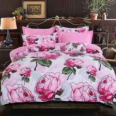 Isn't this bedding pretty? . Find shop link in our bio and search Product ID ID: 13088141  . #beddinginn #bedding #cottonbedding #beddingsets #duvetcovers #bedroomdesign #bedroomdecor #bedroomideas #decor #homedecor #cozy #style #instalike #like4like #bedroom #home #beautiful #stayinbed #snooze #snoozing #comfy #snuggly #bedtime #designerbedding #teensbedding #dormbedding #adultbedding #chicbedding #shabbychic #floralbedding - Architecture and Home Decor - Bedroom - Bathroom - Kitchen And…