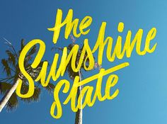 We All Love The Sunshine State | Fonts Inspirations | The Design Inspiration
